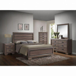 Lyndon Queen Bed - 26020Q - Weathered Gray Grain