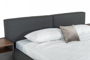 Modrest Haven - Modern Grey Full Leather Bed
