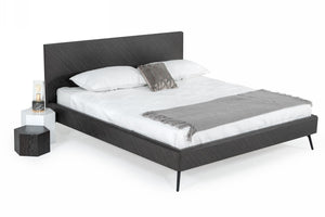 Modrest Gaige - Modern Grey Elm Bed