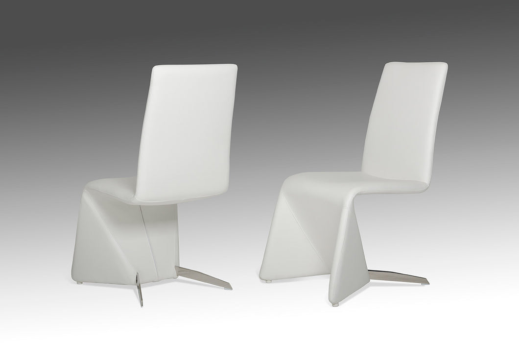 Nisse - Contemporary White Leatherette Dining Chair (Set of 2)