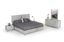 Load image into Gallery viewer, Nova Domus Alexa Italian Modern Grey Bedroom Set