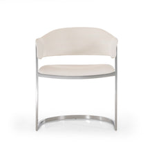 Load image into Gallery viewer, Modrest Allie Contemporary White Leatherette Dining Chair