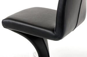 Nix - Modern Black Leatherette Dining Chair (Set of 2)