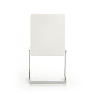 Batavia - Modern White Leatherette Dining Chair (Set of 2)