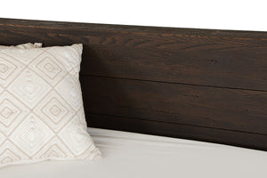 Modrest Selma Modern Dark Aged Oak Bed