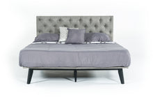 "Load image into Gallery viewer, Modrest Gibson Modern Grey Fabric Super King 76"" x 84"" Bed"