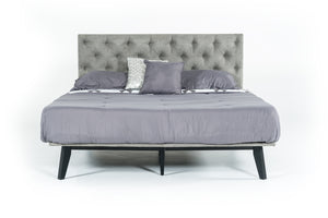 "Modrest Gibson Modern Grey Fabric Super King 76"" x 84"" Bed"
