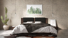 Load image into Gallery viewer, Nova Domus Fantasia - Walnut/Dark Grey Bed and Two Nightstands