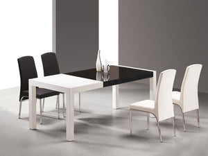 Modrest T062 Combi White and Black Lacquer Table