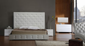 Modrest Elbrus - White Modern Leather Platform Bed