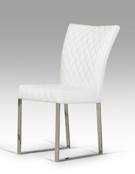 Modrest Chrysler Modern White Leatherette Dining Chair (Set of 2)