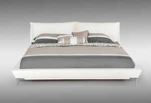 Modrest Loft Modern White Eco-Leather Bed