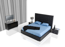 Load image into Gallery viewer, Modrest Lyrica - Black Leatherette Tall Headboard Bed