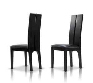 Modrest Maxi Black Oak Dining Chair (Set of 2)