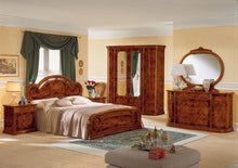 Load image into Gallery viewer, Modrest Milady Italian King Bed with 2 Nightstands