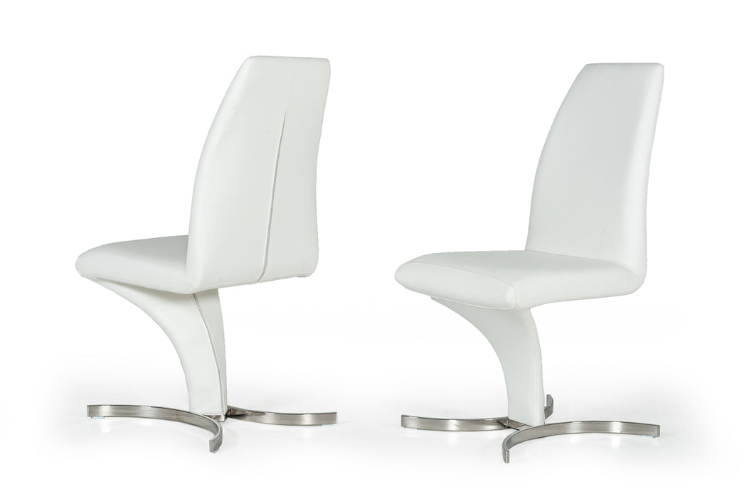 Nix - Modern White Leatherette Dining Chair (Set of 2)