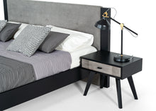 Load image into Gallery viewer, Nova Domus Panther Contemporary Grey & Black Bedroom Set