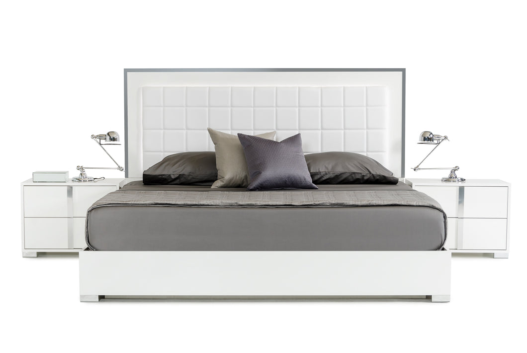 Modrest San Marino Modern White Bed