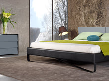 Load image into Gallery viewer, Nova Domus Stone Modern Grey & Black Bed
