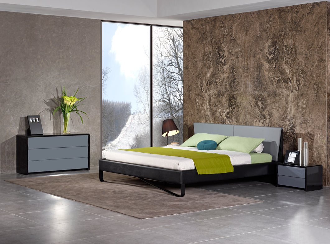Nova Domus Stone Modern Grey & Black Bed