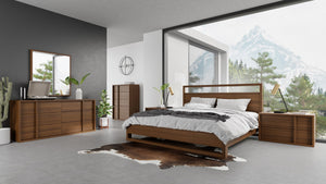 Modrest Berlin - Modern Walnut Bed