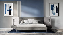 Load image into Gallery viewer, Nova Domus Bronx Italian Modern Faux Concrete & Grey Bed