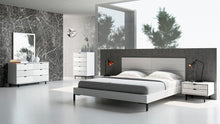Load image into Gallery viewer, Nova Domus Valencia Contemporary White Bed