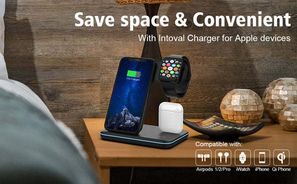 Wireless Charger, 3 in 1