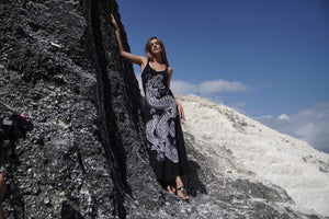 Girl in The Dragon Maxi Dress Rock n Karma