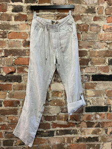 Roll Up Linen Pant-POINT ZERO