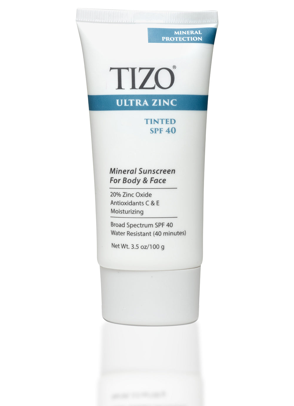 Ultra Zinc Mineral Sunscreen For Body And Face- Tinted + dewy finish SPF 40