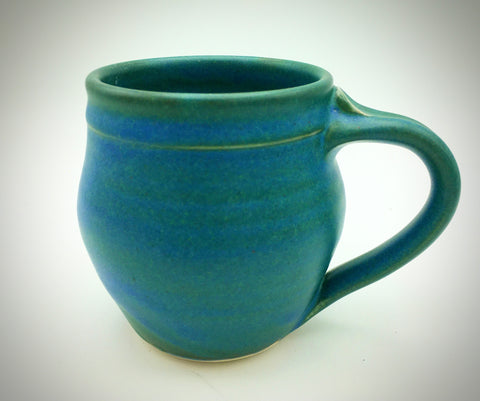 Mug, Round - Dark Green and Cobalt Blue