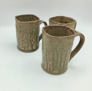 Tall Brown ash mugs