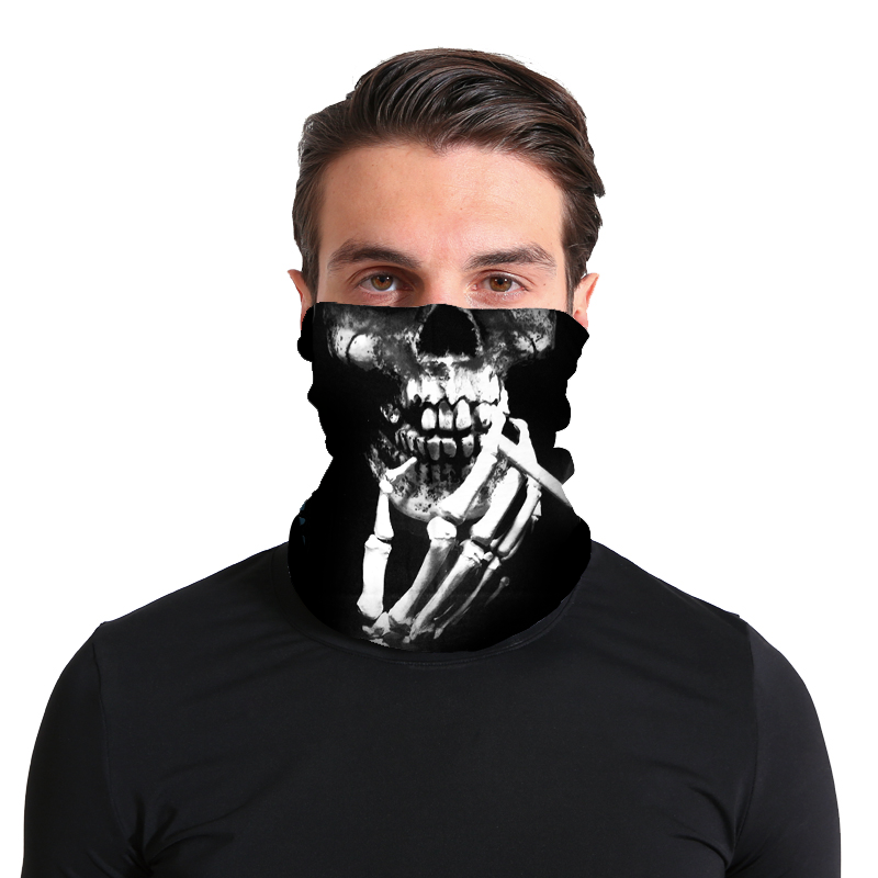 BN142 - Bandana Smoking Skull