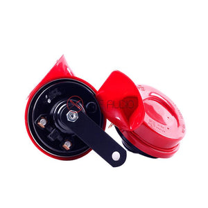 Hella Red Twin Tone Car Horn Set W/ Relay Car Horn Universal kit - Xcite Audio