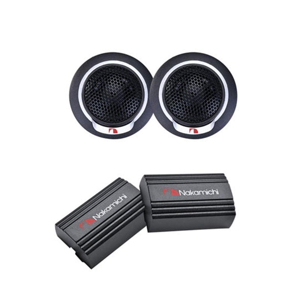 "Nakamichi SP-T13 0.5"" (13mm) 80W Peak KSV PEI Cone Car Tweeter System"