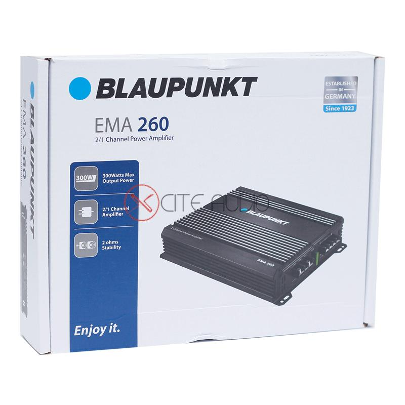 Blaupunkt EMA 260 300W 2-Channel Class-AB Bridgeable Car Amplifier - Xcite Audio