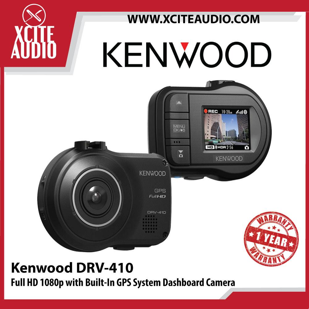 Kenwood DRV-410 Full HD 1080p with Built-In GPS System Dashboard Camera - with 16GB SD Card