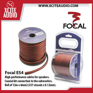 Focal ES4 100% Oxygen Free Cooper High Performance Elite Premium Speaker Cables (12m x 4mm2) - Xcite Audio