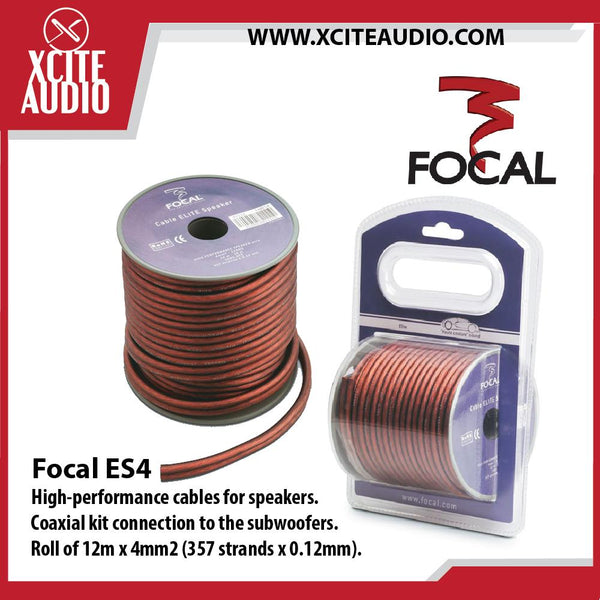 Focal ES4 100% Oxygen Free Cooper Elite High Performance Speaker Cables