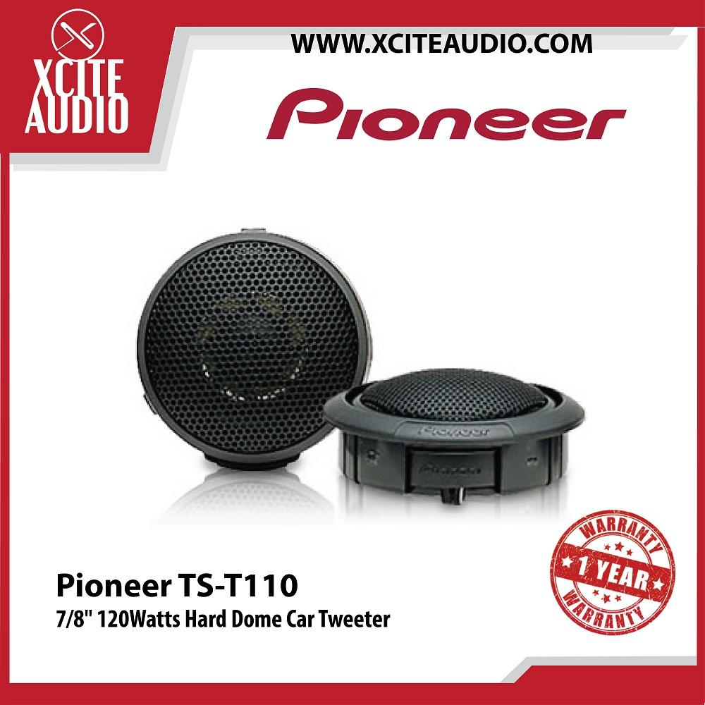 "Pioneer TS-T110 7/8"" 120Watts Hard Dome Car Audio Tweeters"