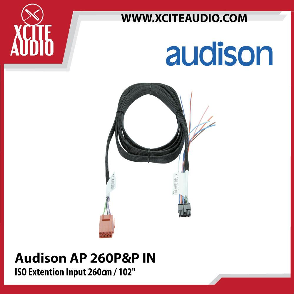 Audison AP 260P&P IN ISO Extention Input 260cm / 102""