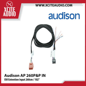 "Audison AP 260P&P IN ISO Extention Input 260cm / 102"" AP Extension Cable - Xcite Audio"