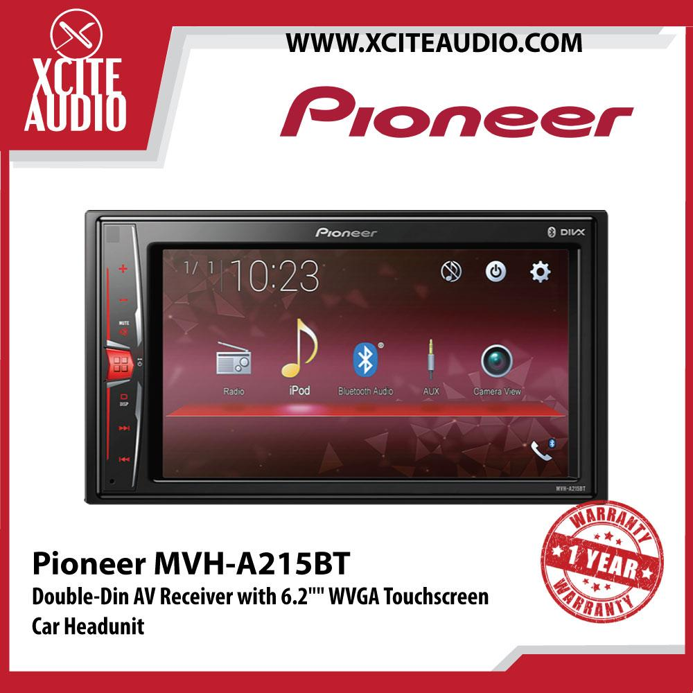 "Pioneer MVH-A215BT 6.2"" Double-Din WVGA Touchscreen Display AV Receiver Built-in Bluetooth Direct Control for iPod/iPhone and Certain Android Phones Car Headunit"