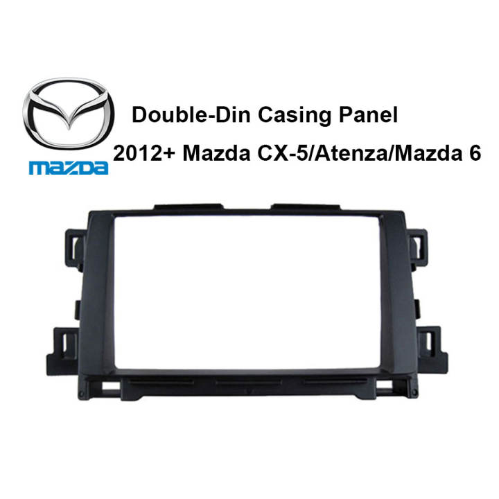 2012+Mazda CX-5/Atenza/Mazda 6 Double-Din Car Headunit / Player / Stereo Audio Casing Panel - Xcite Audio