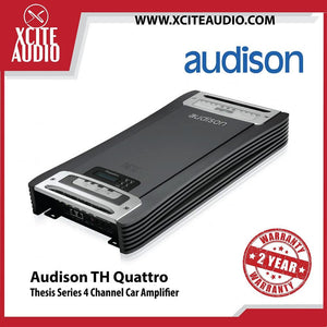 Audison Thesis Series TH quattro 4-Channel Class-AB Car Amplifier - Xcite Audio