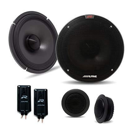 "Alpine R-S65C.2 6.5"" 2-Way R-Series Hi-Res 150W Peak Component Car Speakers - Xcite Audio"