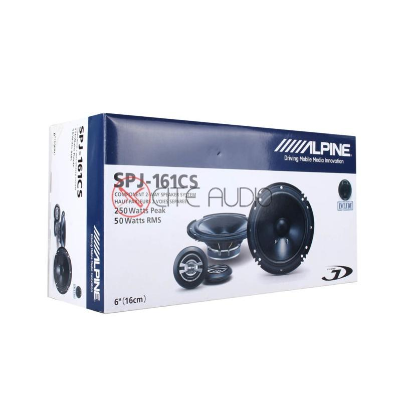 "Alpine SPJ-161CS 6"" Type-J 2-Way Component Car Audio Speakers"