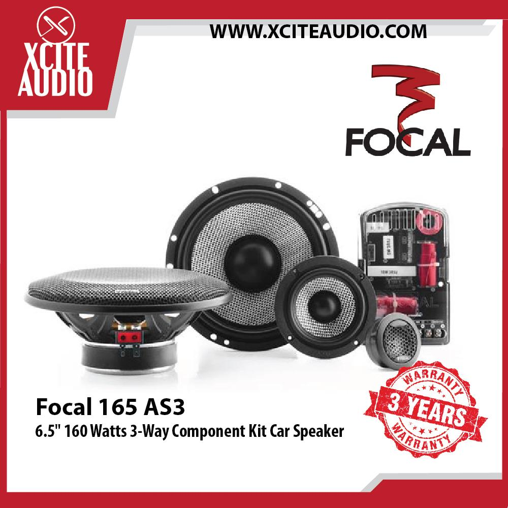 "Focal 165 AS3 6.5"" 160 Watts 3-Way Component Car Speaker"
