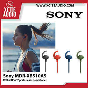 Sony MDR-XB510AS Extra Bass For Sports Wired In-ear Stereo Headphones-New - Xcite Audio